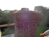 Renovering af tagryg og skorsten